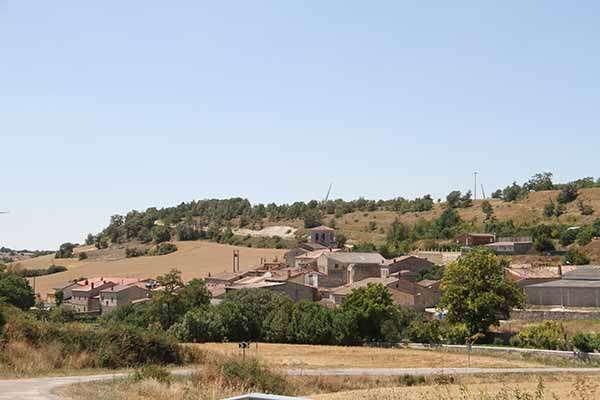 Detalle del entramado urbano de la localidad de Marmellar de Arriba.