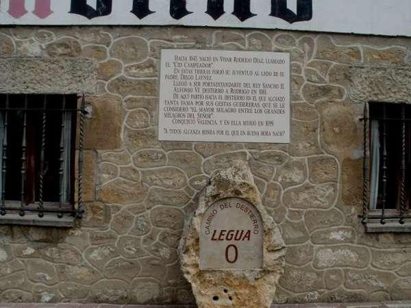 Inicio del camino en Vivar del Cid<br>Fuente: verpueblos.com