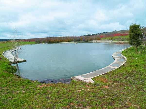 La Charca, como se conoce habitualmente en Cernégula la laguna de Las Brujas.