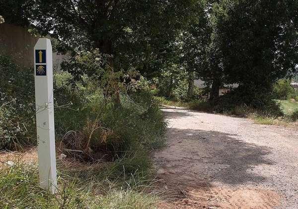 Tramo de esta esta vía que actualmente dispone de señalización del camino jacobeo. <br>Fuente: El correo de Burgos.