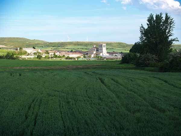 Vista panorámica de Huérmeces, desde el norte de la localidad.