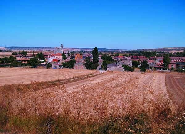 Panorámica de Sotragero, rodeado de cultivos.