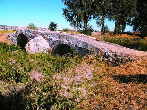 Puente medieval sobre el Ubierna.